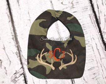 Camouflage Monogrammed Bib
