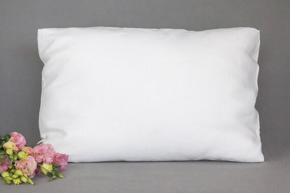 100 Pure White Linen Pillow Case Custom Size Pillowcase