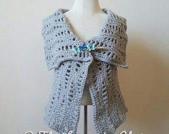 Lacy Waves Vest Crochet Pattern *PDF DOWNLOAD* Instant Download