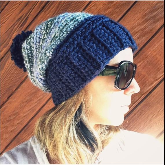 Crochet Hat Pattern, The Opal, Crochet beanie pattern, women's hat pattern, instant download, crochet slouchy hat pattern,