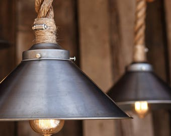 The snow pendant light industrial rope light fixture the factory steel pendant light industrial manila rope lighting rustic swag ceiling lamp mozeypictures Choice Image