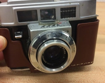 Vintage Camera Kodak 35 with Leather Case