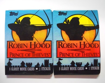 VINTAGE! 1991 Topps Robin Hood: Prince of Thieves Lot of 2 Trading Card Packs