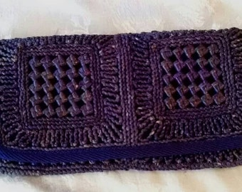 Vintage Purple Clutch Purse, Natural Materials, The Bon
