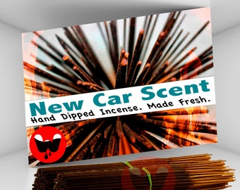 Incense Sticks - New Car, FREE SHIPPING, 100 Incense Sticks, Hand Dipped Incense, Incense Made Fresh! ***Free Shipping in the U.S.***