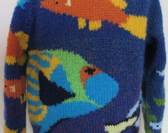 Hand knitted Fish Sweater