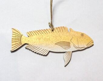 Golden Tilefish Christmas Ornament