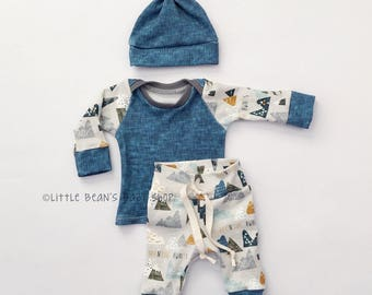 baby boy // baby boy coming home outfit // handmade baby outfit // baby clothes boy // organic baby // organic fabric //  baby shower