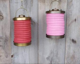 Vintage Hanging Lanterns Brass Accordion Boho Chic Outdoor Decor