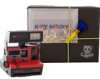 Polaroid Camera Package - Birthday | Incl. 600 type camera, film, manual and 1 year warranty