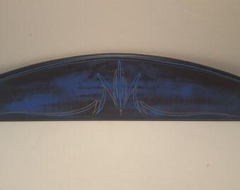 Custom Pinstriped Wood Panel