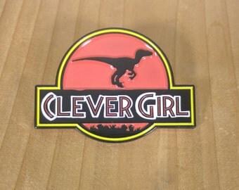 Clever Girl Raptor Ceramic Enamel Pin