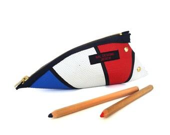 Boys 14, France, pencil case boy, blue white red, sport ball, Sport fan, athletic, Boyfriend gift fancy, pencil case fancy