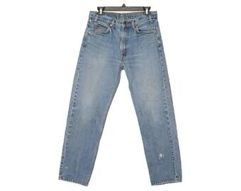 Size 33 505 Vintage Levis, 33 Light Vintage Levis, Vintage Light Wash 505s, Vintage Denim, Vintage Jeans, 33x30 Levis, 33x30, Hank and Olive