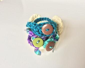 Triple Crochet Charm Bracelets