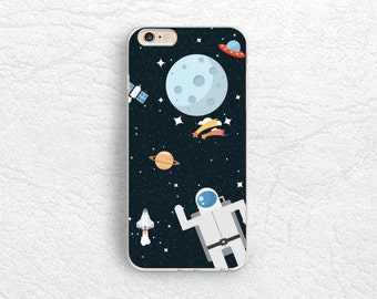 Cute Astronaut Planet Space phone case for iPhone 7, LG G5, Nexus 5x, Nexus 6P, Samsung S7 Edge, HTC One M9, Sony z5, Google Pixel XL -P91