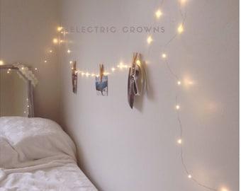 Gift for Her, Boho Decor, String  Lights for Bedroom, Wall Decor, Girls Bedroom Decor, Battery & Plug in Fairy Lights for your Tapestry