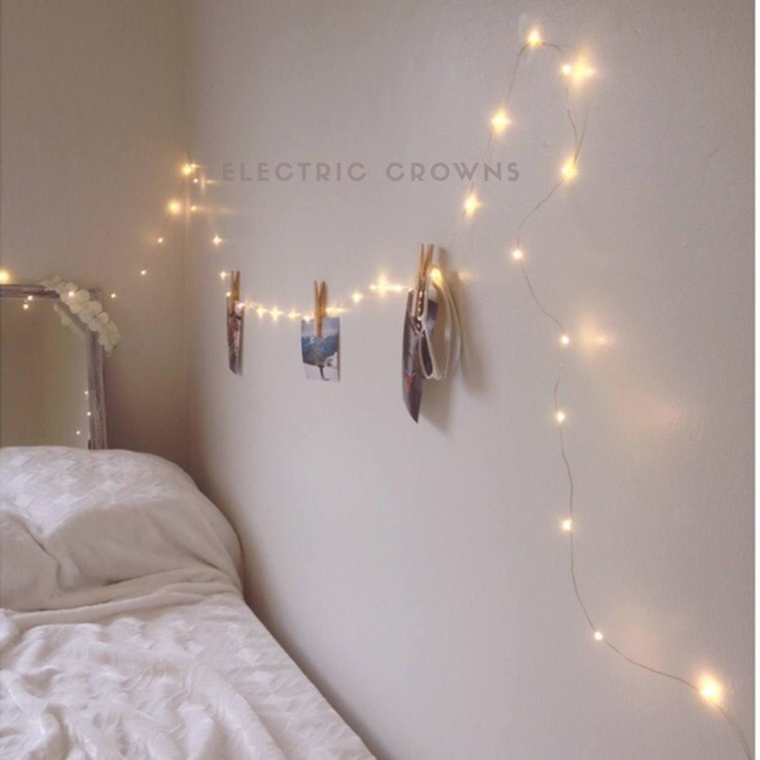gift for her boho decor string lights for bedroom wall decor girls - Wall Light Fixtures For Bedroom