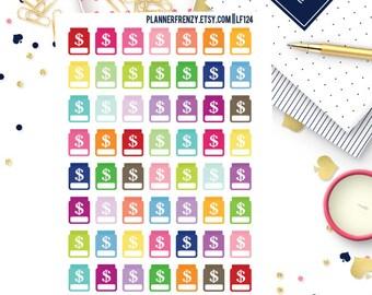 56 Savings Jar Planner Stickers! LF124