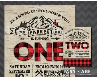 Lumberjack Birthday Invitation, Lumberjack Invite, Printable Lumberjack Invitation, Rustic, Lumberjack Birthday, Lumberjack Party