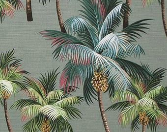 palm tree tissu tropical ameublement hawaii feuille de. Black Bedroom Furniture Sets. Home Design Ideas