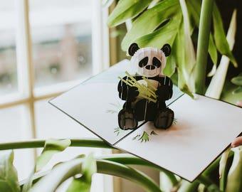 Panda Card, Panda Pop Up Card, Adorable Panda, Panda Birthday Card, Panda Bday Card, Panda Birthday Pop Up Card, Cute Panda, Lovepop