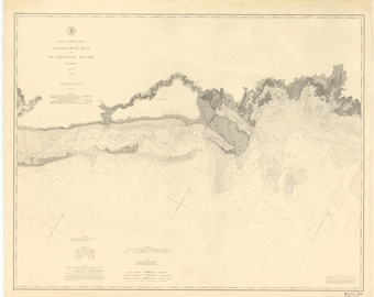 Apalachee Bay Map & St. Georges Sound Map 1883