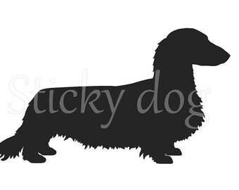 Long-haired Dachshund - Teckel sticker