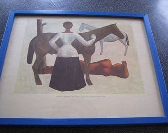 Campligi Amazones Print  Massimo Campligi Framed with Glass Vintage