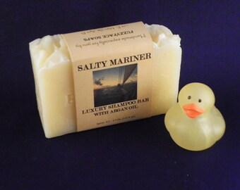 SALTY MARINER Luxury Shampoo Bar with Argan Oil