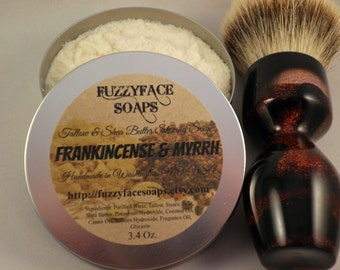 Frankincense and Myrrh Luxury Tallow & Shea Butter Shaving Soap