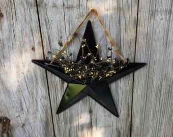 Barn Star with Pip Berries, Wall Pocket Star with Pip Berries, Americana Decor, Patriotic Decor, Rustic Decor, Primitive Decor