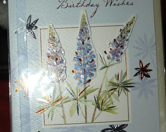 Sending you Birthday Wishes Flowery Card