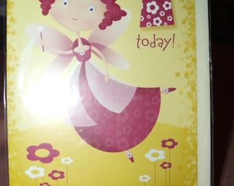 Fairy 1 Today!  Birthday Card