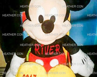 Personalized Mickey Plush