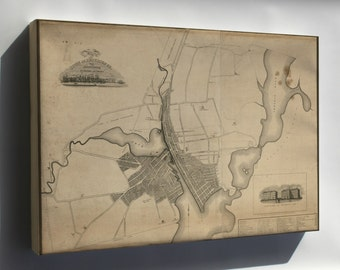 Canvas 24x36; Map Of The Town Of Providence Rhode Island 1823
