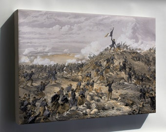Canvas 24x36; Attack On The Malakoff By Wwilliam Simpson Battle Of Malakoff Crimean War