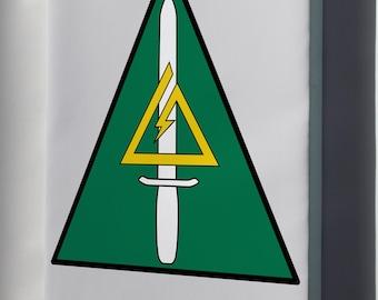 Canvas 24x36; Delta Force 1St Special Forces Operational Detachment Delta Unit Patch  Delta Force