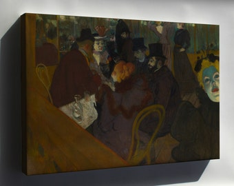 Canvas 24x36; Henri De Toulouse Lautrec At The Moulin Rouge