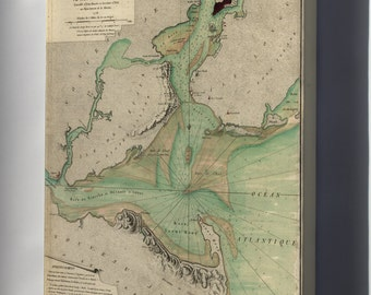 Canvas 24x36; Map Of Hudson River 1778 New York City P1