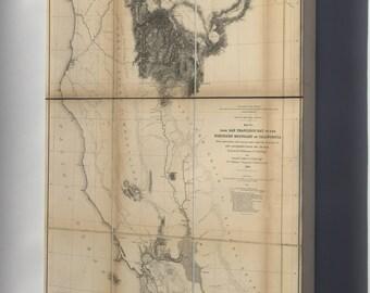 Canvas 24x36; Map Of California North Of San Francisco Bay  1855