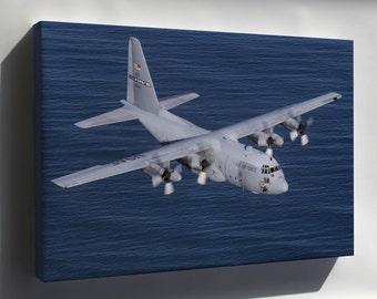Canvas 24x36; C-130 Hercules