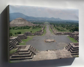 Canvas 24x36; Teotihuacan Mesoamerican City Of P1 Aztec Maya Mexico