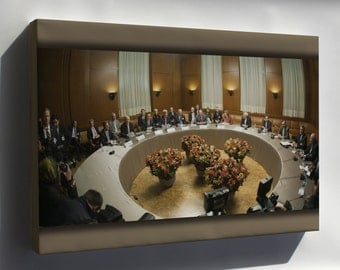 Canvas 24x36; Iran Negotiations About Iran'S Nuclear