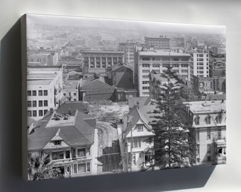 Canvas 16x24; Panoramic View Of Downtown Los Angeles From The Melrose Hotel, Ca.1914 (5712) #031215