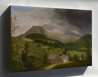 Canvas 16x24; Alvan Fisher Approaching Storm, White Mountains