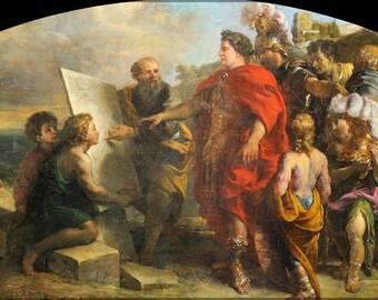 16x24 Poster; Augustus Building The Port Of Misenum By Charles De La Fosse