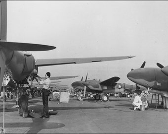16x24 Poster; Lockheed P-38 Lightning Pursuit Receive Final Inspections 1942