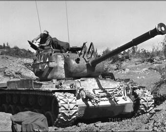 16x24 Poster; M46 Patton Tank Korean War Usmc