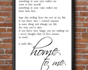 Chantal Kreviazuk Song Lyric WALL ART Prints Black And